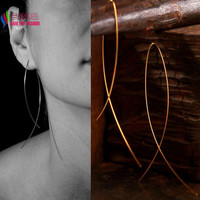 Simplicity Handma Fish Shaped Hoop Copper Wire Earrings Brincos gota Feminino