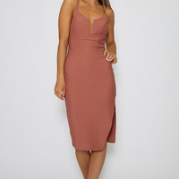 Thea Dress - Dusty Red