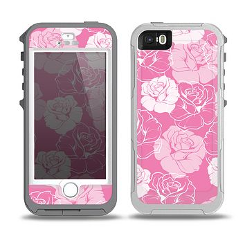 The Subtle Pinks Rose Pattern V3 Skin for the iPhone 5-5s OtterBox Preserver WaterProof Case