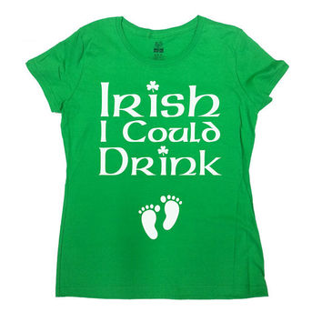 St Patrick's Day Pregnancy Shirt Irish I Could Drink Pregnancy Announcement Gifts For Expecting Mothers Mommy To Be Shirt Ladies Tee - SA569