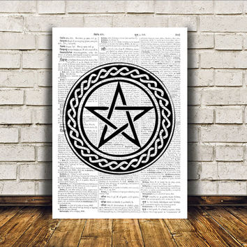 Pentacle print Occult poster Modern decor Witch art RTA178