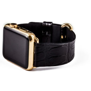 Hadoro apple watch gold alligator back