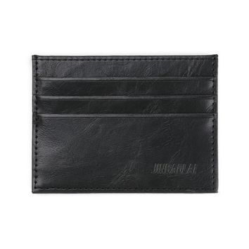 JINBAOLAI Men Leather Clutch Billfold Credit ID Card Slim Purse Wallet Men's Wallet carteras