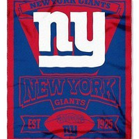 New York NY Giants NFL Marque Design 50x60 Fleece Throw Blanket