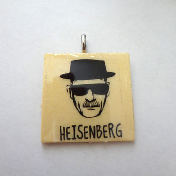 Altered Art Photo Transfer Pendant - Breaking Bad Jewelry, Necklace, Walter White, Heisenberg, SunGlasses, Hat, Sketch (Large)
