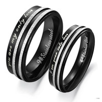 Korean Personal black memory Couple titanium steel rings -one for men only-Size 9