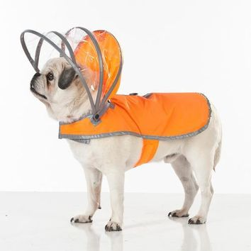 Lightning Line Dog Raincoat - Safety Orange