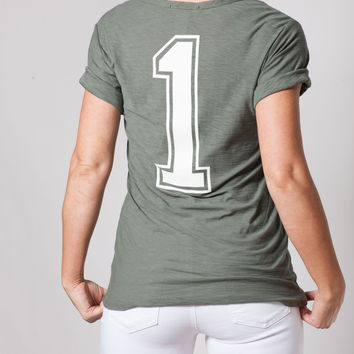 Olive #1 Short Sleeve Tee Shirt