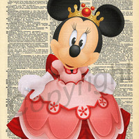 Minnie Mouse Dictionary Art Print