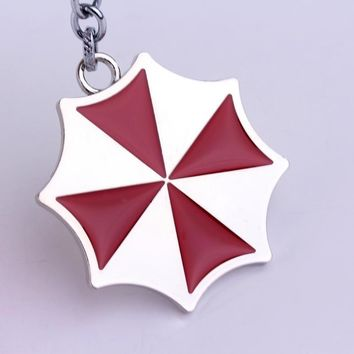 New Fashion Movie Resident Evil Keyring Little Red Umbrella Logo Key Chain High Quality white k Keychain Gift For Friendship