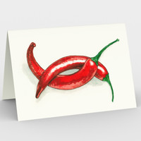 Hot peppers Stationery Card Stationery Card