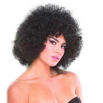Black Solid Color Foxy Afro Wig
