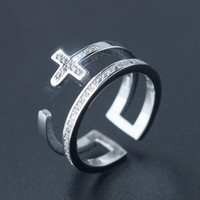 Fashion cross 925 sterling silver ring , a perfect gift