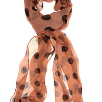 Blush polka dot skinny scarf - View All New In - What's New - Dorothy Perkins United States