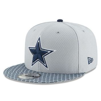 Dallas Cowboys New Era NFL 2017 Sideline On Field 9Fifty Snapback Cap Hat