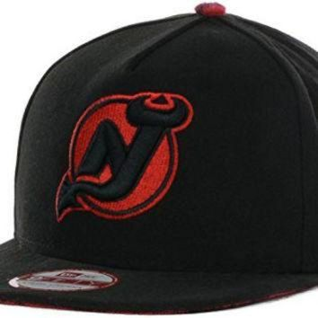 DCCK8X2 New Jersey Devils Pop Unda Plaid NHL New Era 9FIFTY A-Frame Strapback Cap Hat (Medium