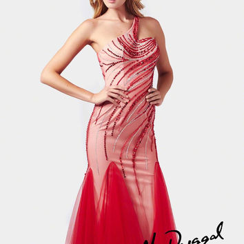 Mac Duggal 82053M One Shoulder Mermaid Prom Dress Evening Gown $460