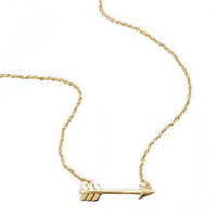 14kt Gold Plated Arrow Necklace