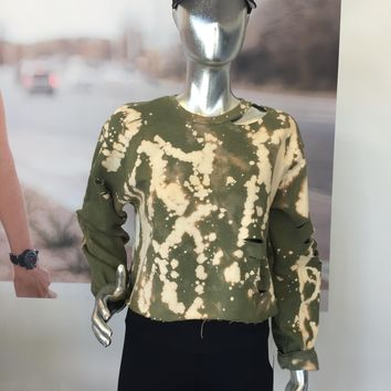 ARMY CROPPED SWEATSHIRT - ONE SIZE FITS MOST