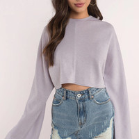 Hang Loose Bell Sleeve Crop Top