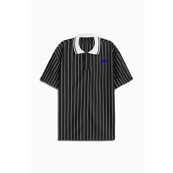 dp rugby polo / black stripe + ivory + cobalt