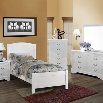 White Twin Panel Bedroom Set
