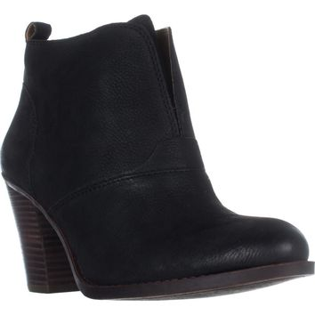 Lucky Brand Ehllen Pull On Ankle Boots, Black, 8 US / 38 EU