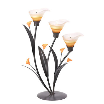 Amber Lilies Votive Candle Holder
