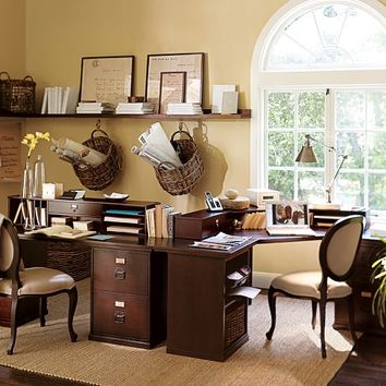 build your own bedford home office from pottery barn home. Black Bedroom Furniture Sets. Home Design Ideas
