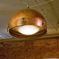 HUGE Copper Timpani Drum Hanging Lamp by wesbenn on Etsy