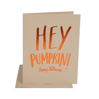 Hey Pumpkin Halloween Card