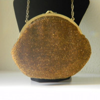 Evening Bag, Retro Glamour, Copper Beads, Reduced Price, Vintage
