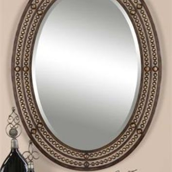 Uttermost Matney Distressed Bronze Mirror