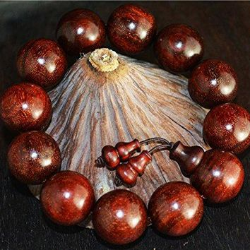 natural genuine india zitan red sandalwood bracelet prayer beads mala wood worry rosary buddhism wild Authentic Real Buddhist misbaha tasbih komboloi