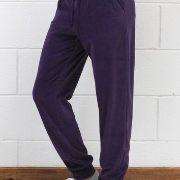 Soft Plush Jogger Pants {Deep Purple}