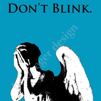 Doctor Who Weeping Angel Art Print 8x10 or 8.5x11