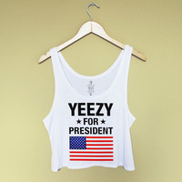 Yeezy For President Crop Tank Top