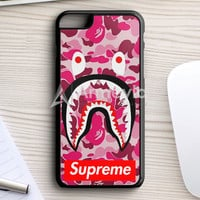 Supreme Bape Camo Shark iPhone 7 Plus Case | armeyla.com