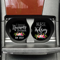 Nurse Graduation Gift, Auto Car Coaster Set, RN Car Coasters, Nursing School College, Nurse Grad Gift, Nurse Coaster, (CAR0022)