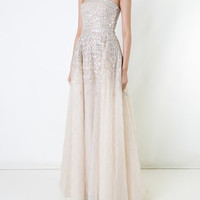 Zuhair Murad Beaded Strapless Tulle Gown - Farfetch