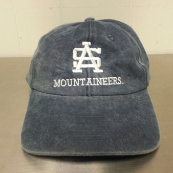 Vintage 90's Appalachian State Mountaineers Strapback Dad Hat NCAA Football Basketball Baseball Boone North Carolina Denim Style