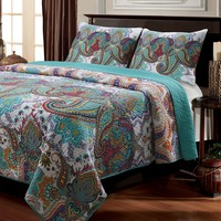 Nirvana Reversible 3-pc. Quilt Set - Full/Queen