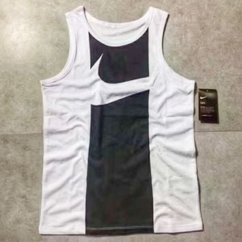 NIKE Dry Fashion Print Casual Sleeveless Vest Shirt Top Tee Blouse G-A-XYCL
