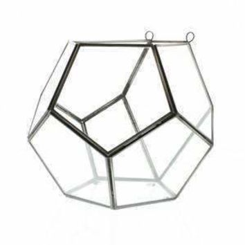 Pierre Leaded Glass Wall Terrarium - Dodecahedron