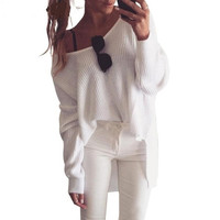 High Fashion Oversize Loose Sexy Sweater
