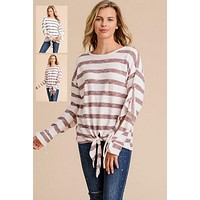 Doe & Rae Flutter Sleeve Stripe Top - 2 Colors