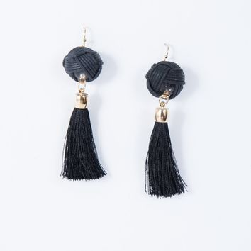Intertwined Tassel Earrings