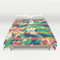 Tropical Duvet Cover by Steven Toang