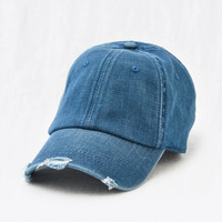 Aerie Denim Baseball Hat, Blue