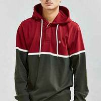 Stussy Hooded Rugby Shirt - Urban Outfitters